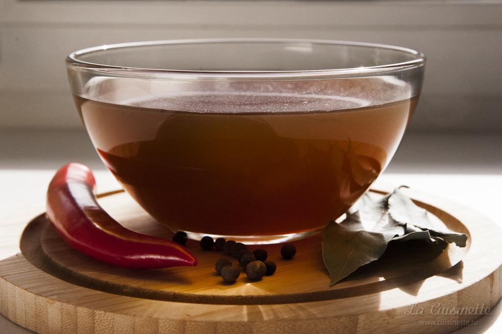 красный бульон из телятины для соуса эспаньол