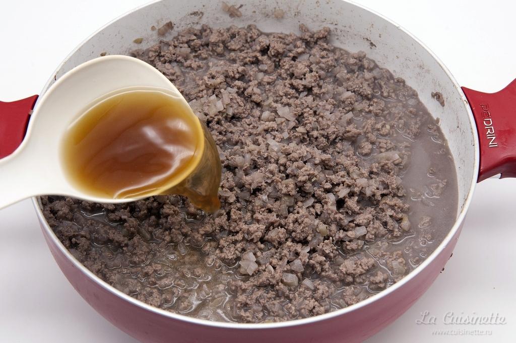 добавление красного бульона из телятины